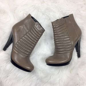 7 for All Mankind Brown Leather Heel Ankle Boots